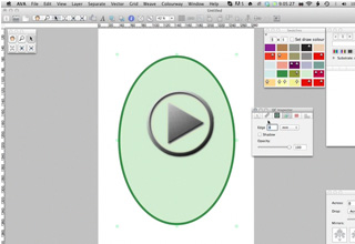 Create an outline on a shape in Quick Colourways