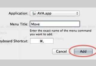 Changing the 'Access Preferences' Keyboard Shortcut in favour of 'Move Selection'